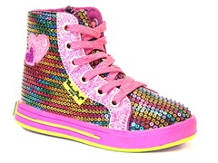 Hi Top - Rainbow Glitz