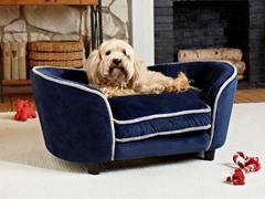 Ultra Plush Snuggle Bed Navy Blue