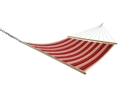 Quilted Acrylic Hammock, Tuxedo Red