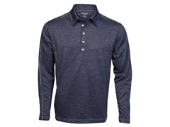 Trilogy Long-Sleeve Polo - Peacoat
