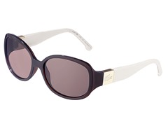 Fashion Sunglasses, Brown/White