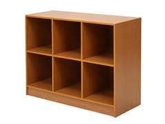 3x2 Bookcase w/Bins Lt Cherry/Ivory