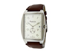 No 8 Rectangular Silver Dial Watch