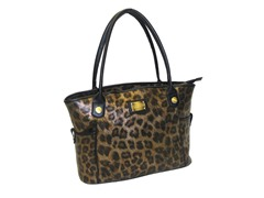 17'' East West Laptop Tote - Gold