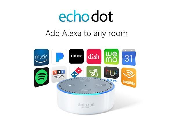 Amazon Echo Dot (2nd Gen) Smart Speaker w/ Alexa