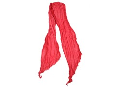 Global Color Layered Frayed Edge Scarf,Red