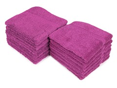 Contempo 12-Pack Wash Cloths- Purple Wine