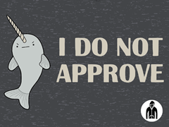 Disapproving Narwhal Jersey Zip Hoodie