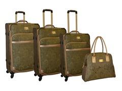 Paisley Jacquard 4-Piece Luggage Set