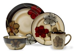Painted Poppies 16-Piece Dinnerware Set