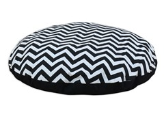 "Zig Zag Black 36"" Round Pet Bed"