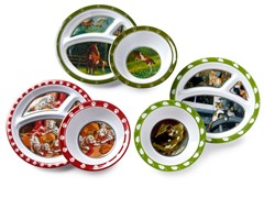 6-Piece Plate/Bowl Set - Animals