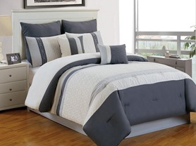 Calloway 8pc Comforter Set-3 Sizes-4 Colors