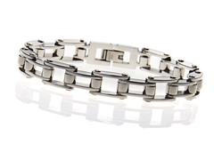 BlackJack Stainless Steel Bicycle Link Bracelet