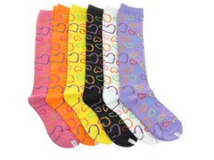 12-Pr Hearts in Love Knee Highs