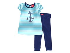 Teal & Navy 2-Piece Legging Set (12M-4T)