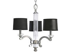3-Light Chandelier, Classic Silver