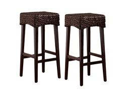 Pair Water Hyacinth Stools (2-Sizes)