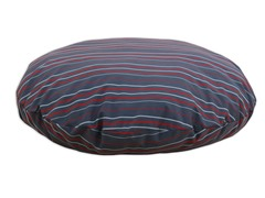 "Multi Stripe Charcoal 36"" Round Pet Bed"