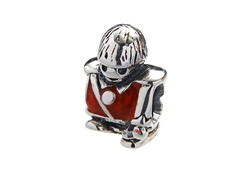 SS & Red Enamel Toy Soldier Charm