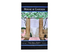 House & Garden-Patio Scene Beach Towel