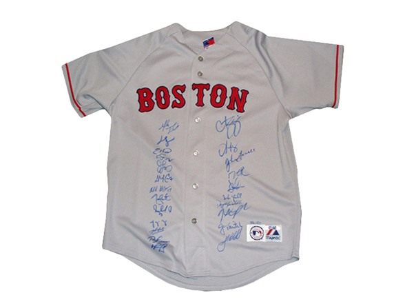 the best attitude c6d51 ab745 2007 Boston Red Sox Team Signed Jersey