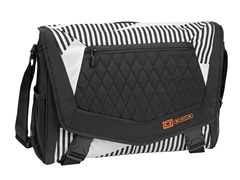 Vamp L Laptop Bag - White Stripes