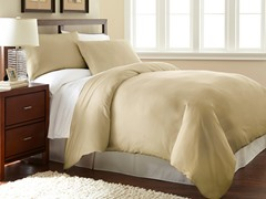 Micro Flannel® Duvet Cover Set-Khaki- 3 Sizes