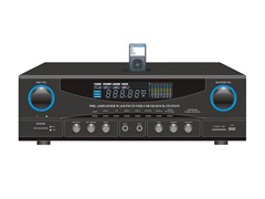 500W Stereo Receiver w/30-Pin iPod Dock