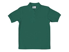 Boys Pique Polo - Hunter Green (Sizes XS-L)