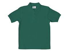 Boys Pique Polo - Hunter Green (Sizes XS-L)