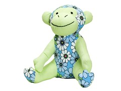 Mica the Monkey- Blue Flower Shower