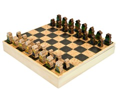 WWF Zoo Animals Wood Chess