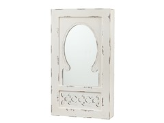 Gilmore Shabby Chic Wall Mount Jewelry Mirror