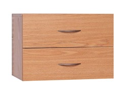 Oak 2-Drawer Closet Organizer