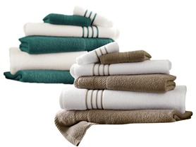 6-Piece Quick-Dry Striped Towel Set