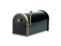 Coronado Mailbox Black with Antique Bronze