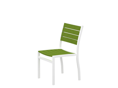 Euro Dining Chair, White/Lime