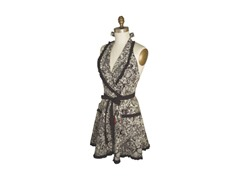 Floralia Apron - Black/White - One Size