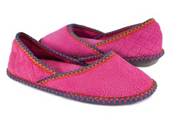 Muk Luks Beverly Micro Chenille Slip-ons , Pink