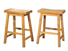 "TMS 24"" Belfast Saddle Stool Set of 2"