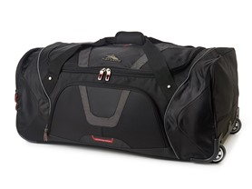 High Sierra Wheeled Cargo Duffel Black 30""
