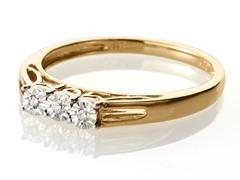 Edgewater Three Stone Diamond Gold Plated Ring