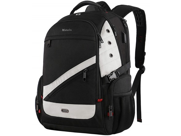 "Matein 17"" TSA Friendly Large Laptop Backpack with USB Charging Port"