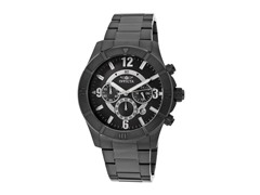 Invicta Men's Chronograph, Black/Black