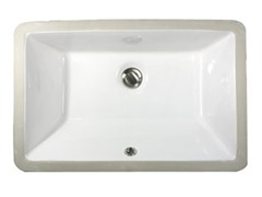 Ceramic Rectangle Bathroom Sink, White