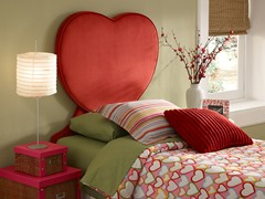 Upholstered Heart Headboard- Twin