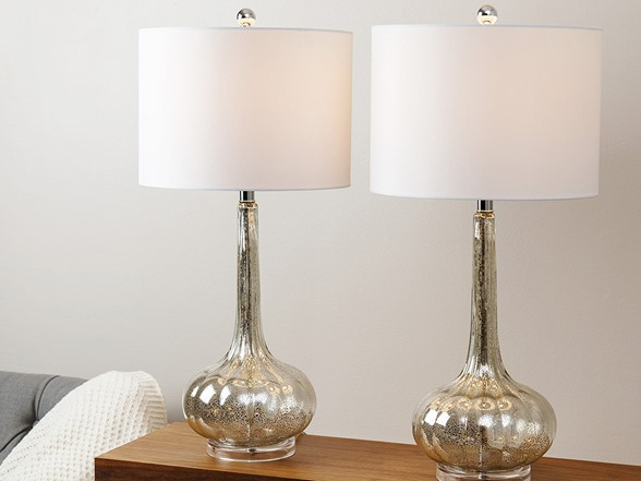 Mercury Antiqued Glass Table Lamp Set Of 2 Your Choice