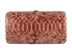 Vecelli Italy Snake Wallet, Light Brown