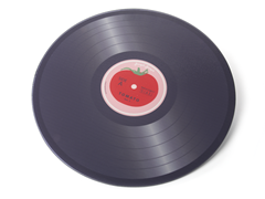 Tomato Record Worktop Saver